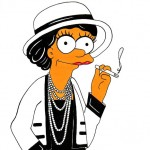 Marge Simpson as Coco Chanel
